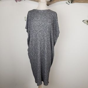 Audrey 3+1 cocoon style gray stretchy dress